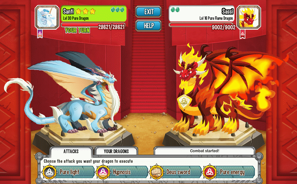 how to change dragons in dragon city